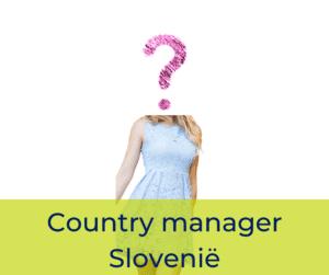 Country manager Slovenië