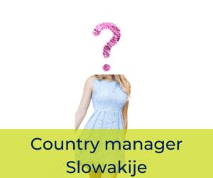 Country manager Slowakije